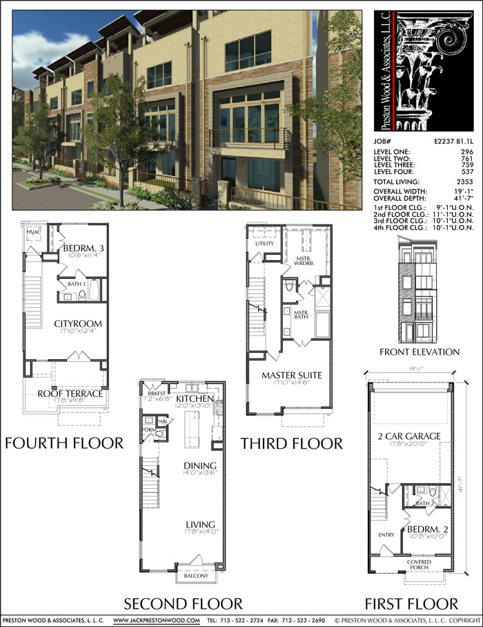 Townhouse Plan E2237 B1.1