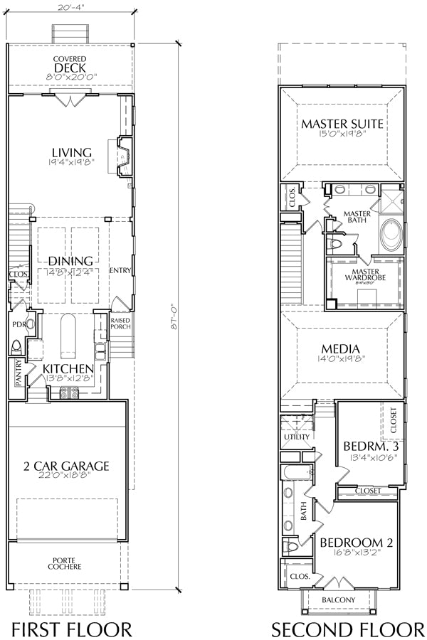Townhouse Plan E5168