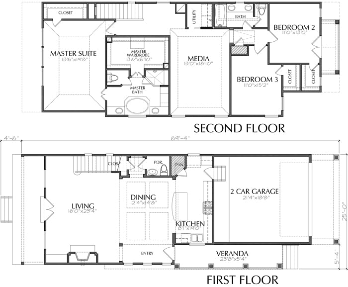 Townhouse Plan E0218