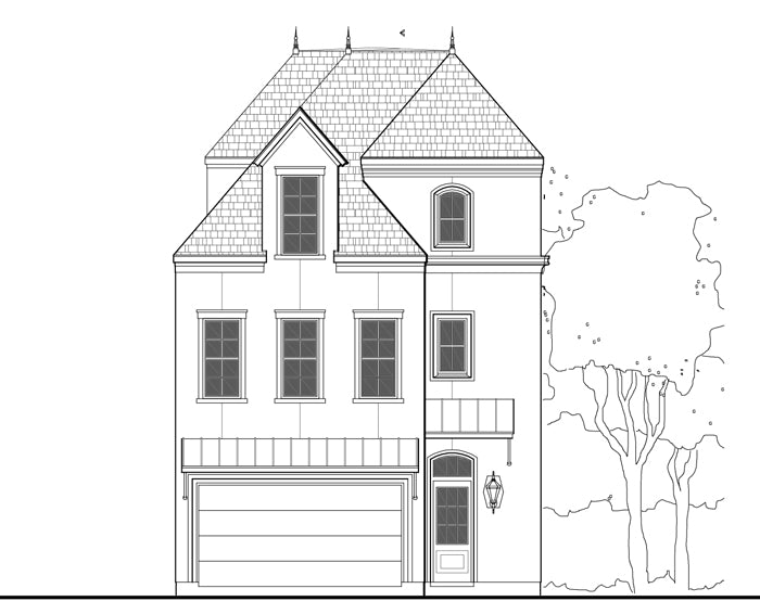 2 1/2 Story Townhouse Plan E1028 A