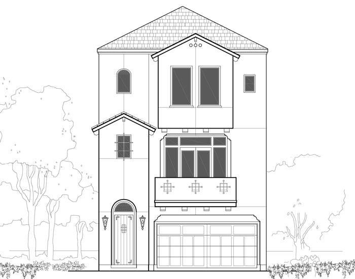 Three Story Townhouse Plan E2036 B1.1L