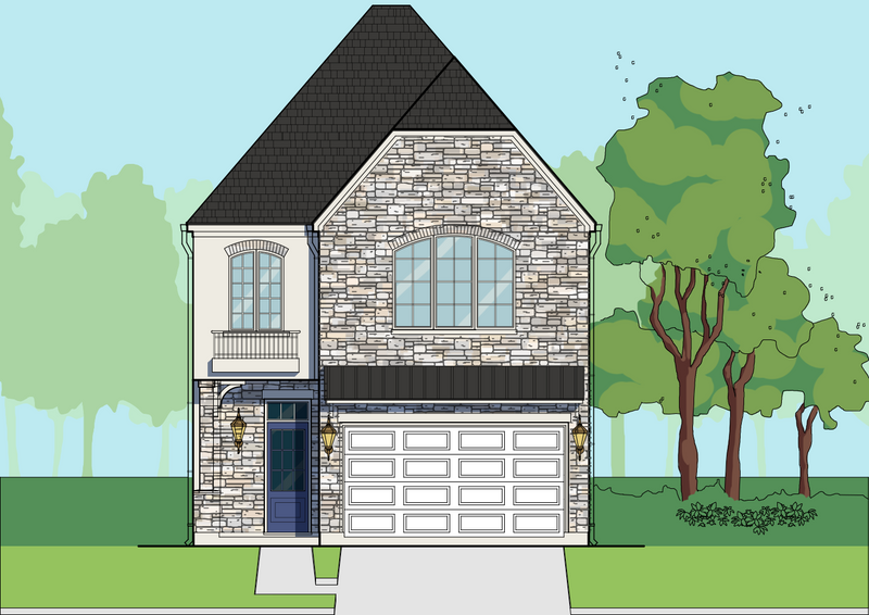 Two Story Home Plan E5036 A2.2 L
