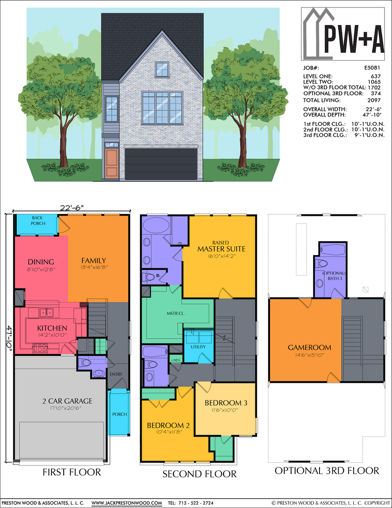 Two Story Home Plan E5081