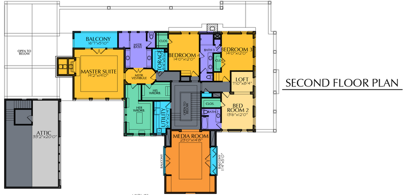 Two Story Home Plan E5177
