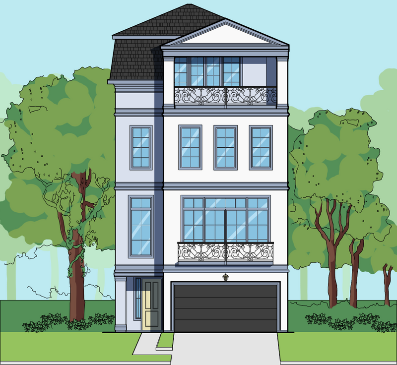 Four Story Home Plan E6045 A1.2