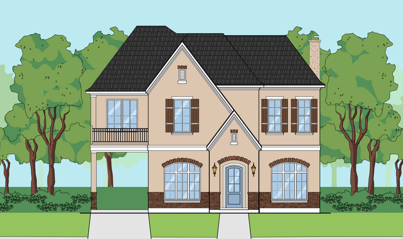 Two Story Home Plan E6046