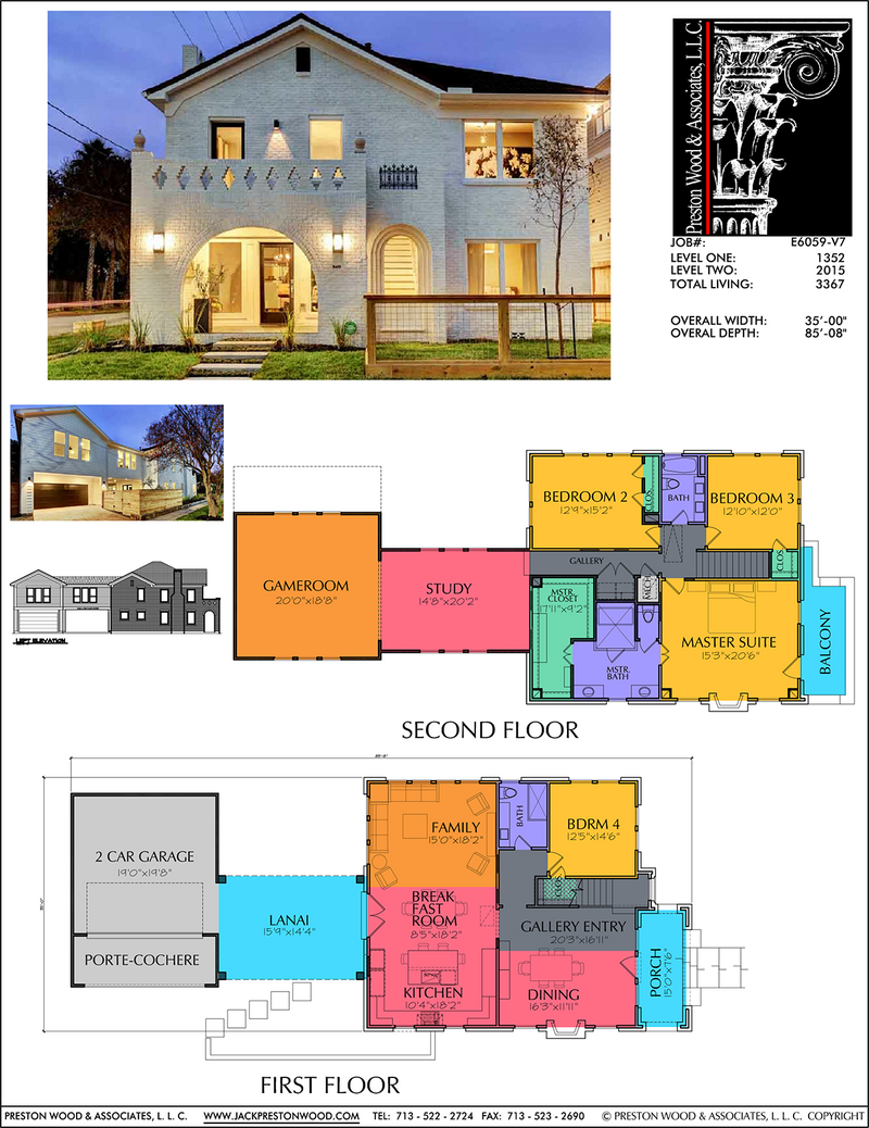 Two Story Home Plan E6059