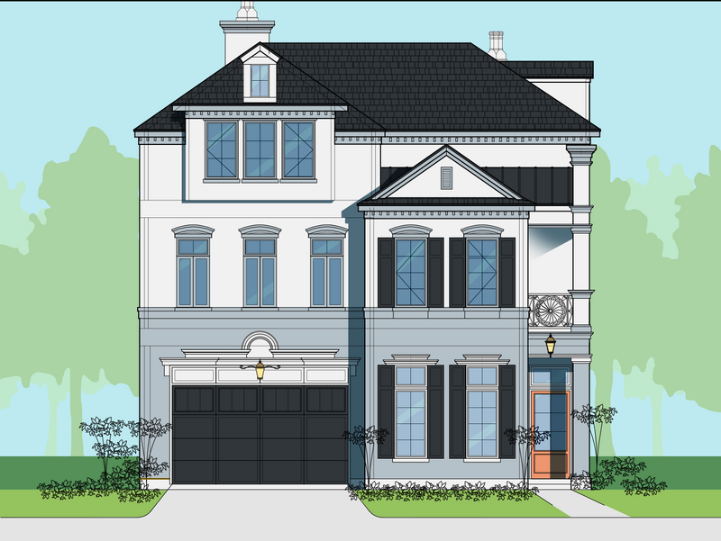 Three Story Home Plan E6066 B1.1