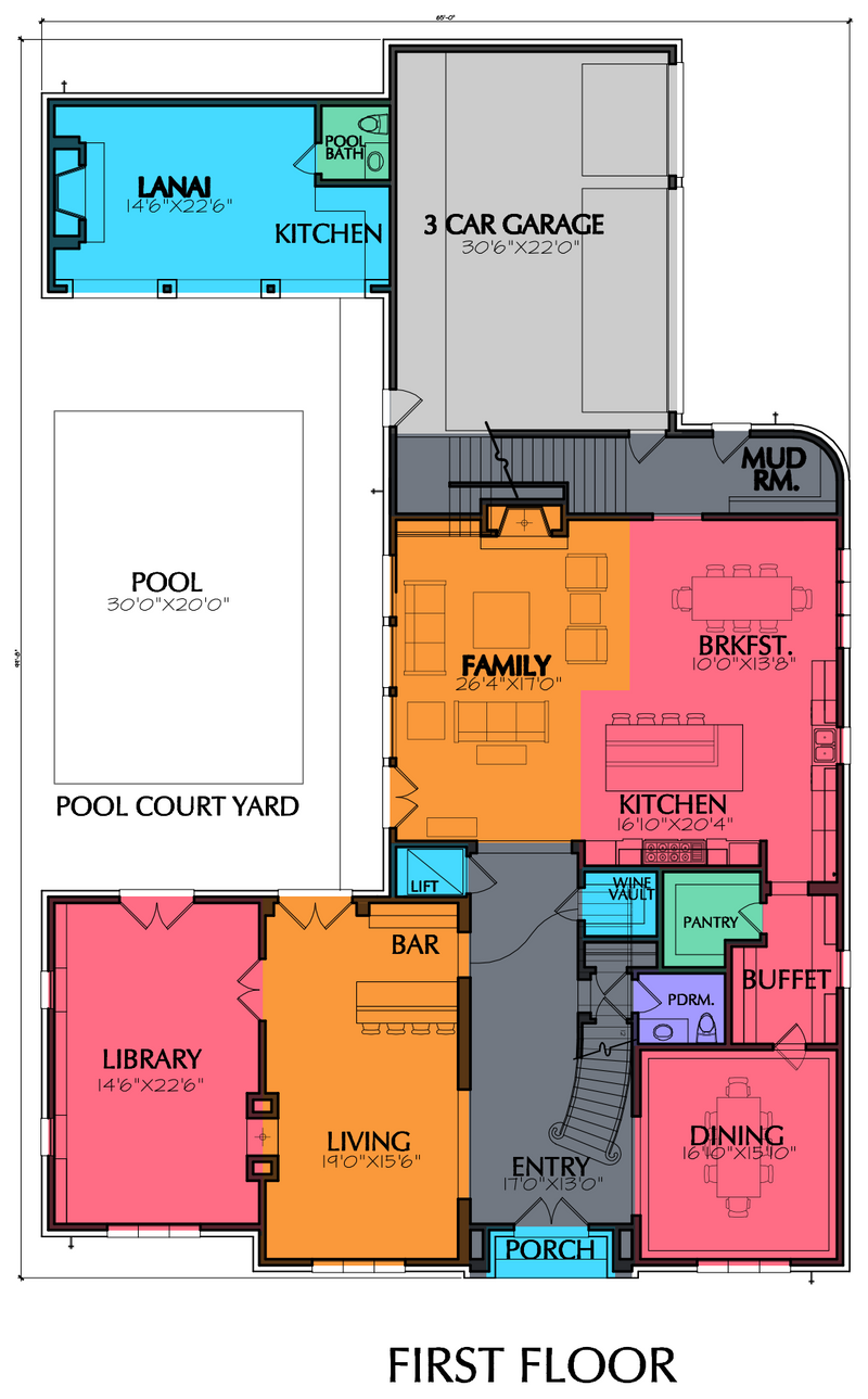 Two Story Home Plan E6118
