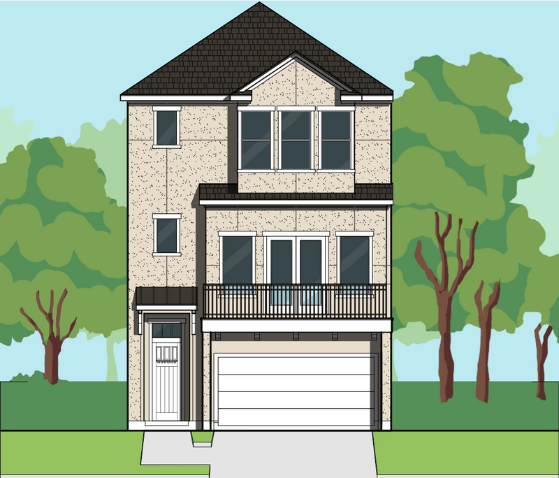 Three Story Home Plan E6137 A1