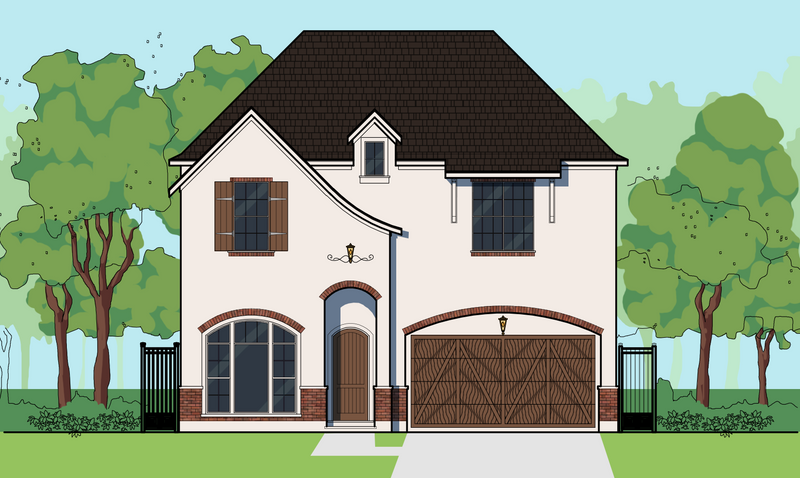Two Story Home Plan E6140