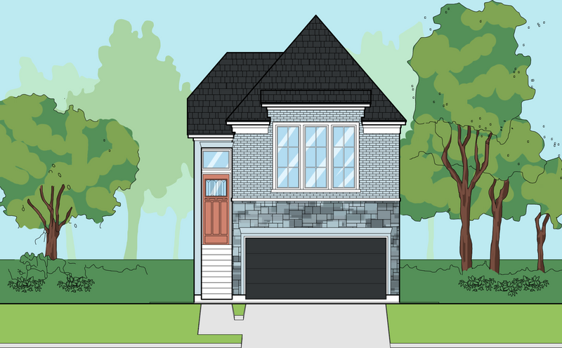 Two Story Home Plan E7028 E