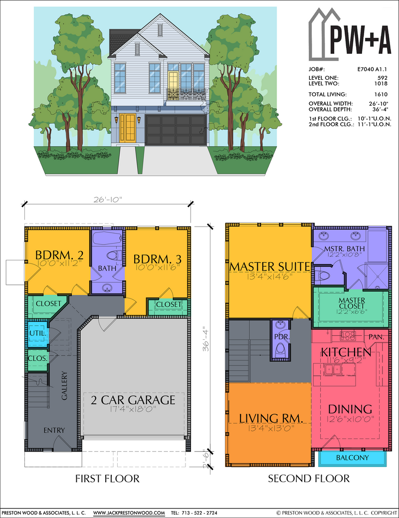 Two Story Home Plan E7040 A1.1