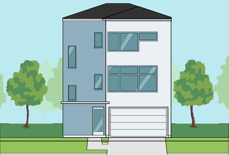 Three Story Townhome Plan E7094 B