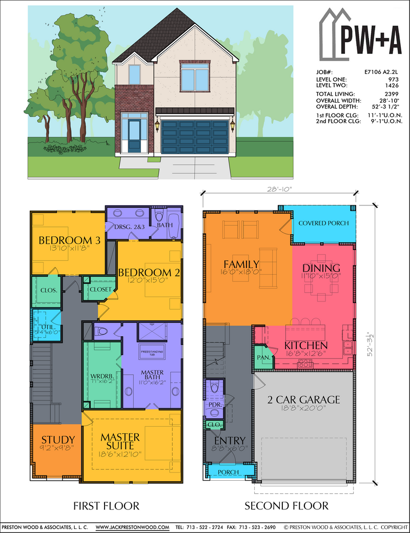 Two Story Home Plan E7106 A2.2