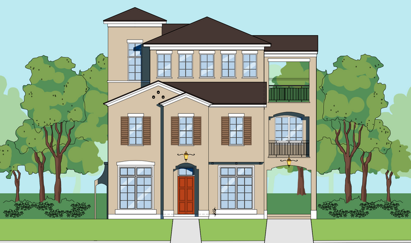 Three Story Home Plan E7130