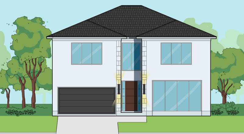 Two Story Home Plan E7131