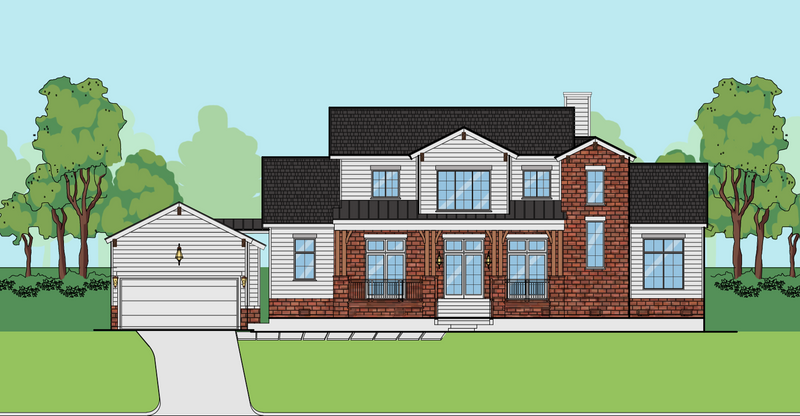 Two Story Home Plan E7135