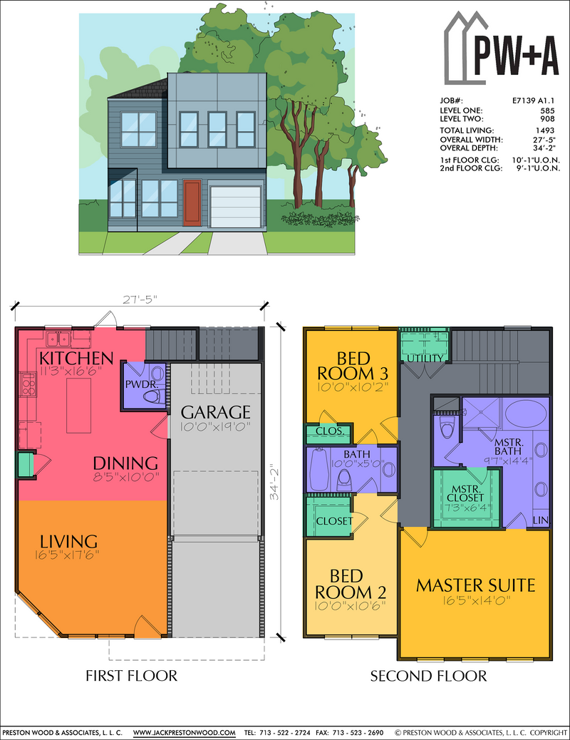Two Story Home Plan E7139 A1.1