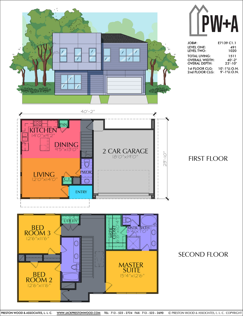 Two Story Home Plan E7139 C1.1