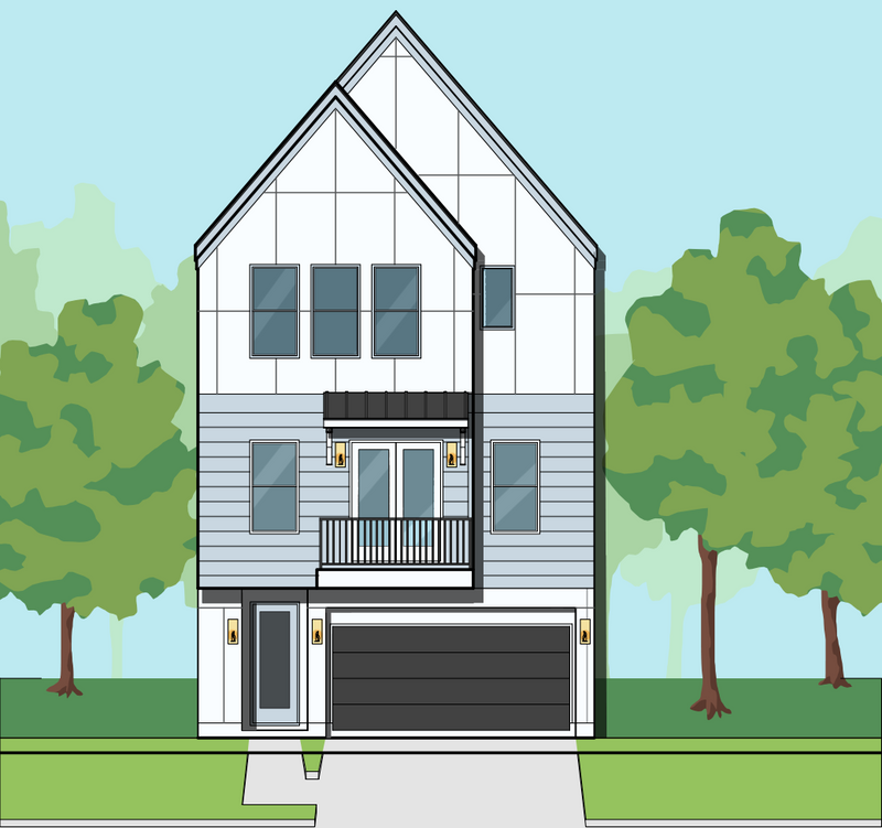 Three Story Home Plan E7152 B1.1