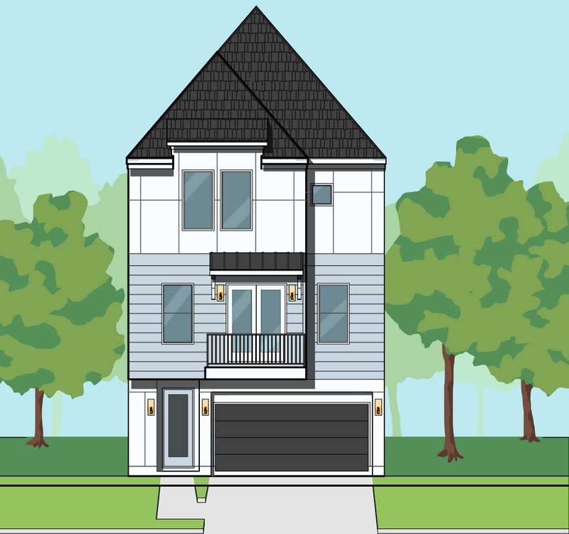 Three Story Home Plan E7152 B2.1