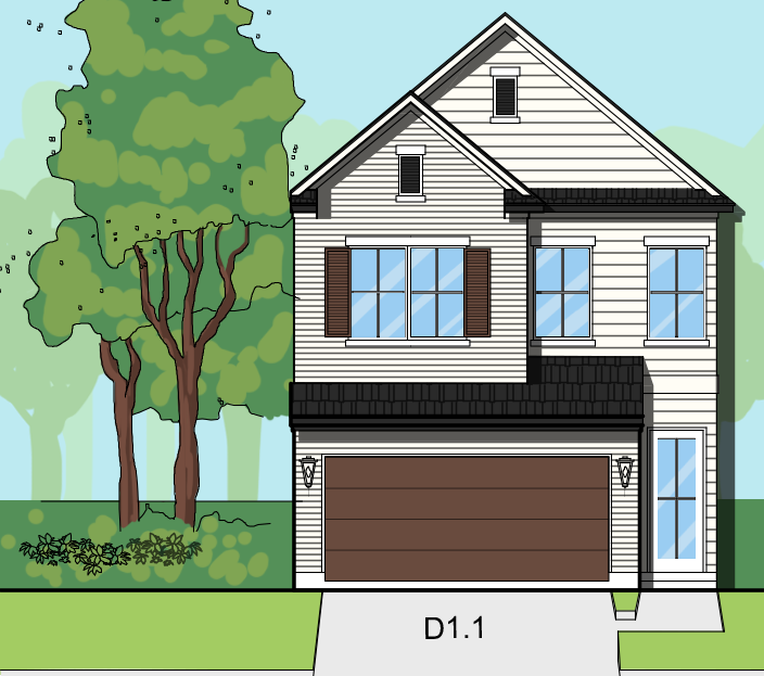 Two Story Home Plan E8005 D1.1