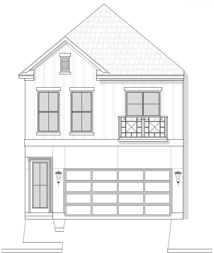 Two Story Home Plan E8005 B1.1