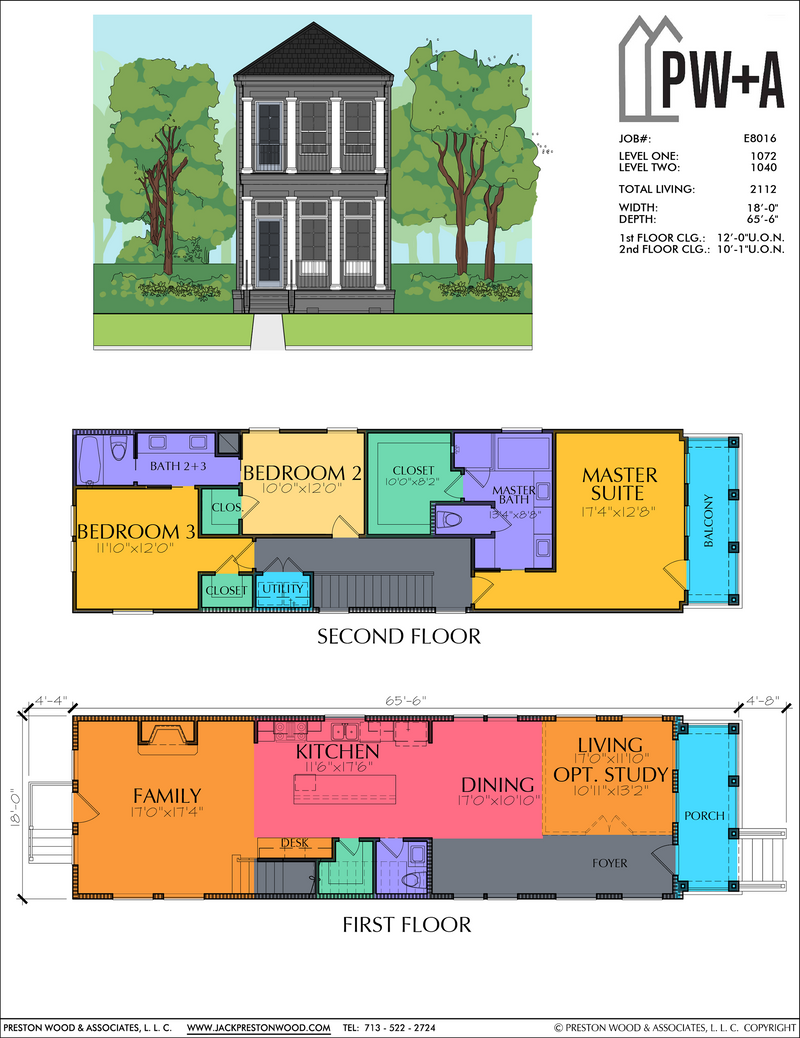 Two Story Home Plan E8016