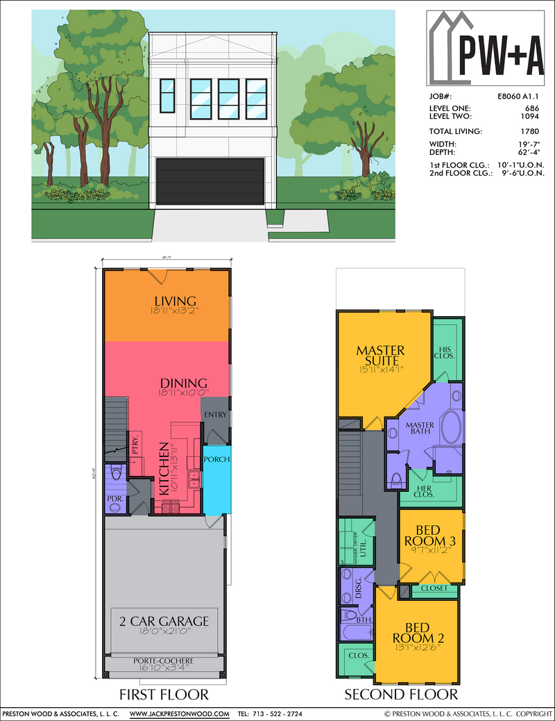 Two Story Home Plan E8060 A1.1