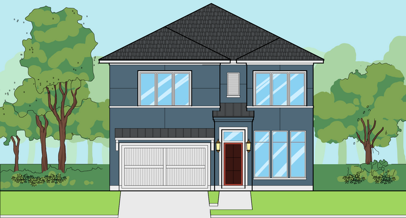 Two Story Home Plan E8080
