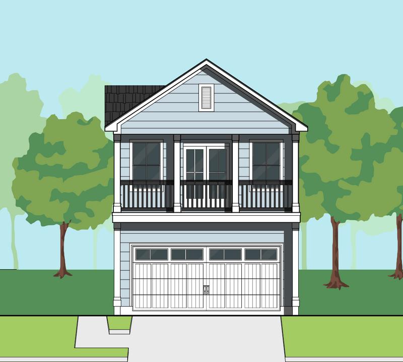 Two Story Home Plan E8102 A1.1