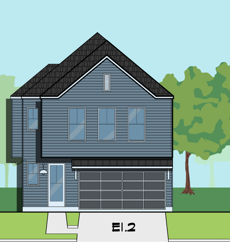 Two Story Home Plan E8107 E1