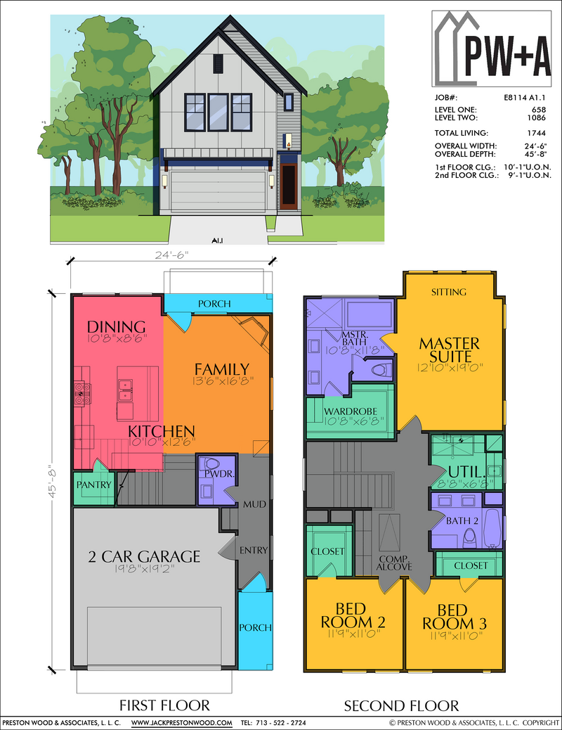Two Story Home Plan E8114 A1.1