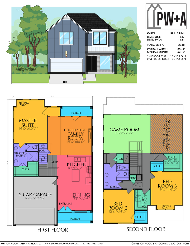 Two Story Home Plan E8114 B1.1