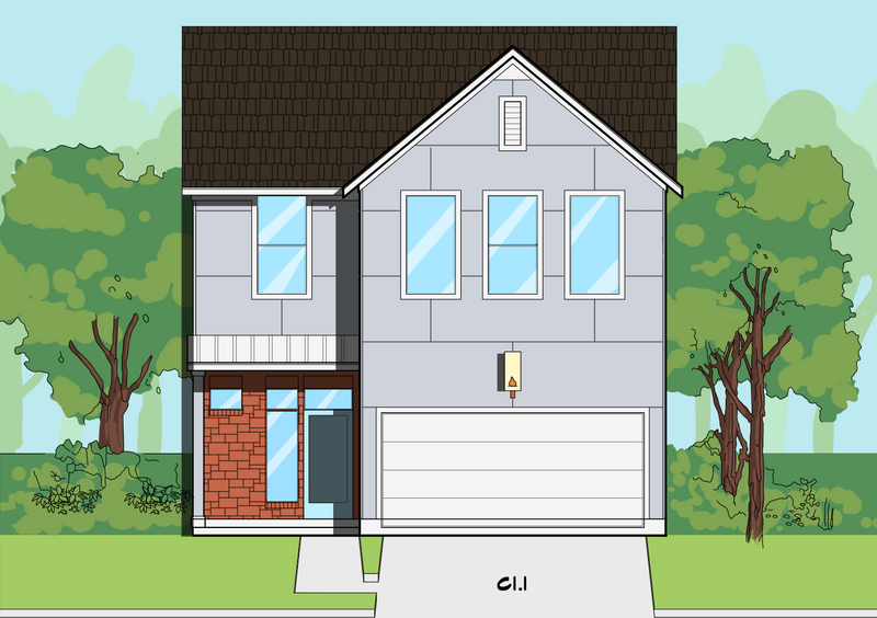 Two Story Home Plan E8114 C1.1