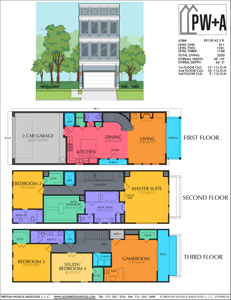 Three Story Home Plan E8130 A2.2R