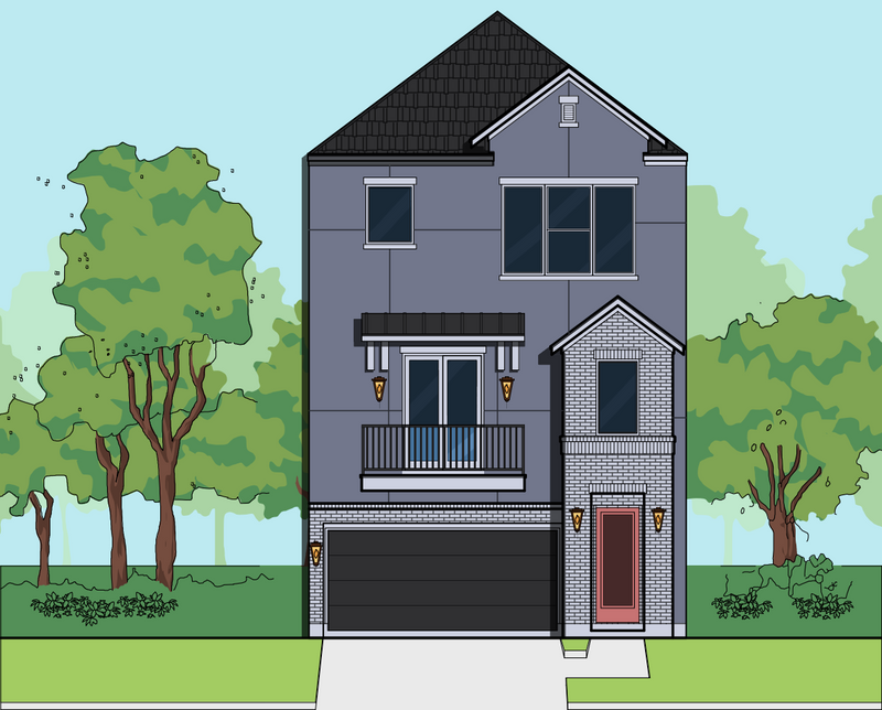 Three Story Home Plan E8131 A1.1R