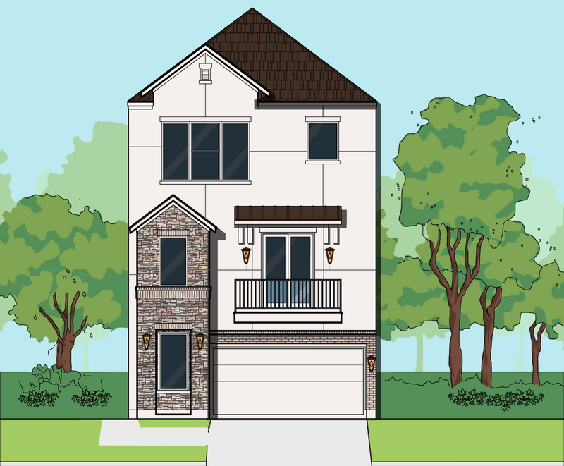 Three Story Home Plan E8131 A2.1L