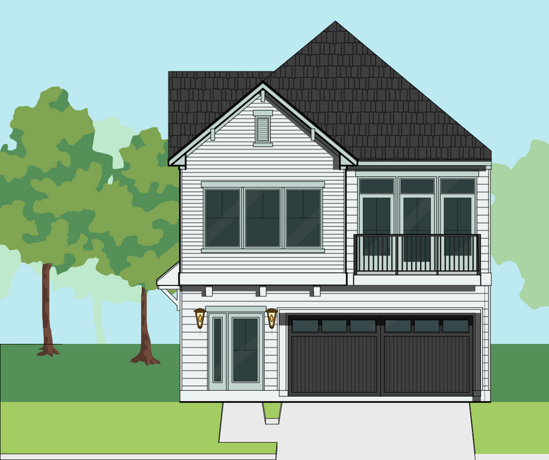 Two Story Home Plan E8180 A