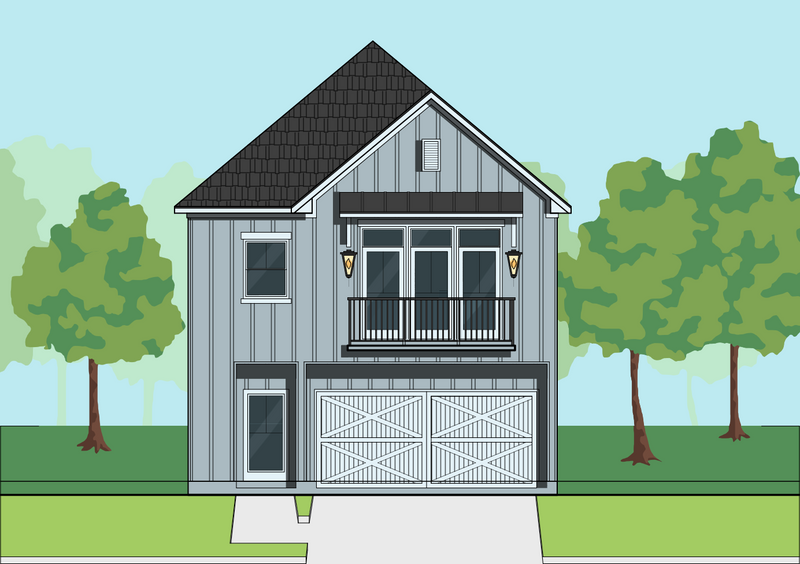 Two Story Home Plan E8180 B1.1