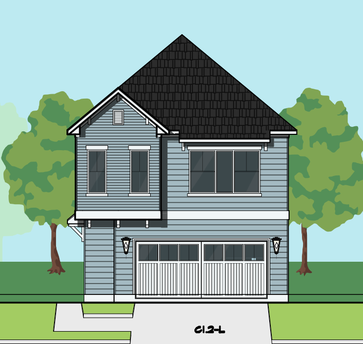 Two Story Home Plan E8180 C1