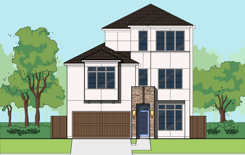 Three Story Home Plan E8212