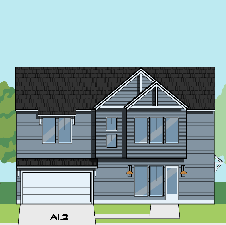 Two Story Home Plan E8218 A1