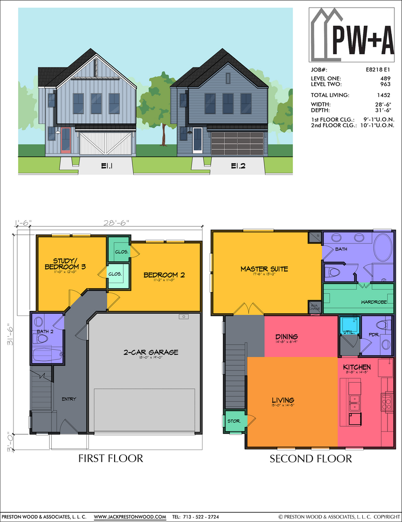 Two Story Home Plan E8218 E1