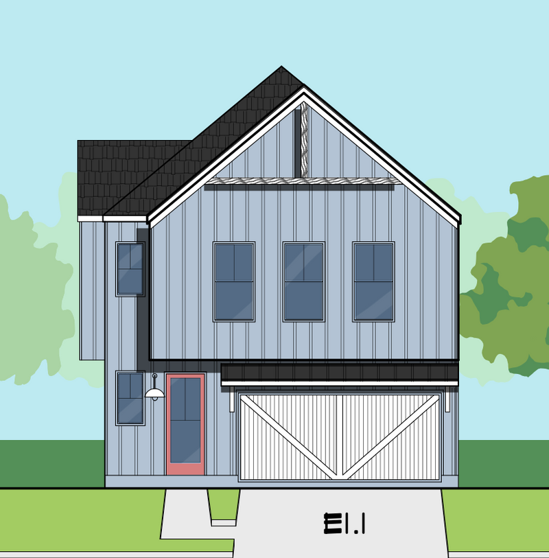 Two Story Home Plan E8218 E1.1 & E1.2