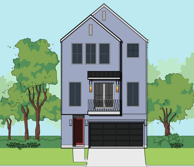 Three Story Home Plan E9016 A1.1