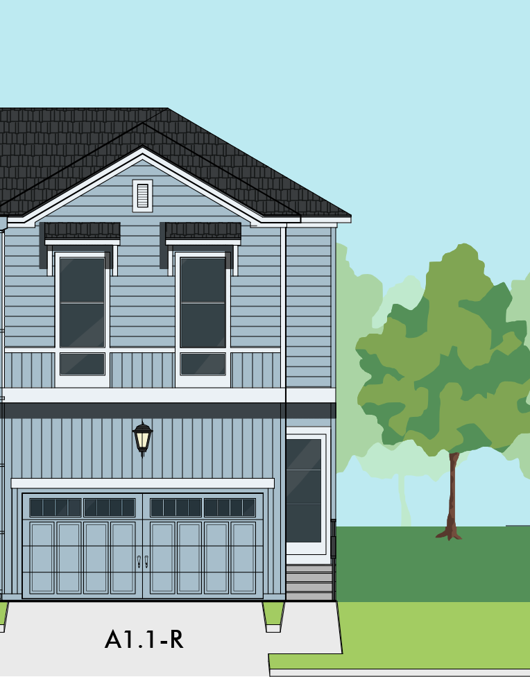 Two Story Duplex Home Plan E9020 A1