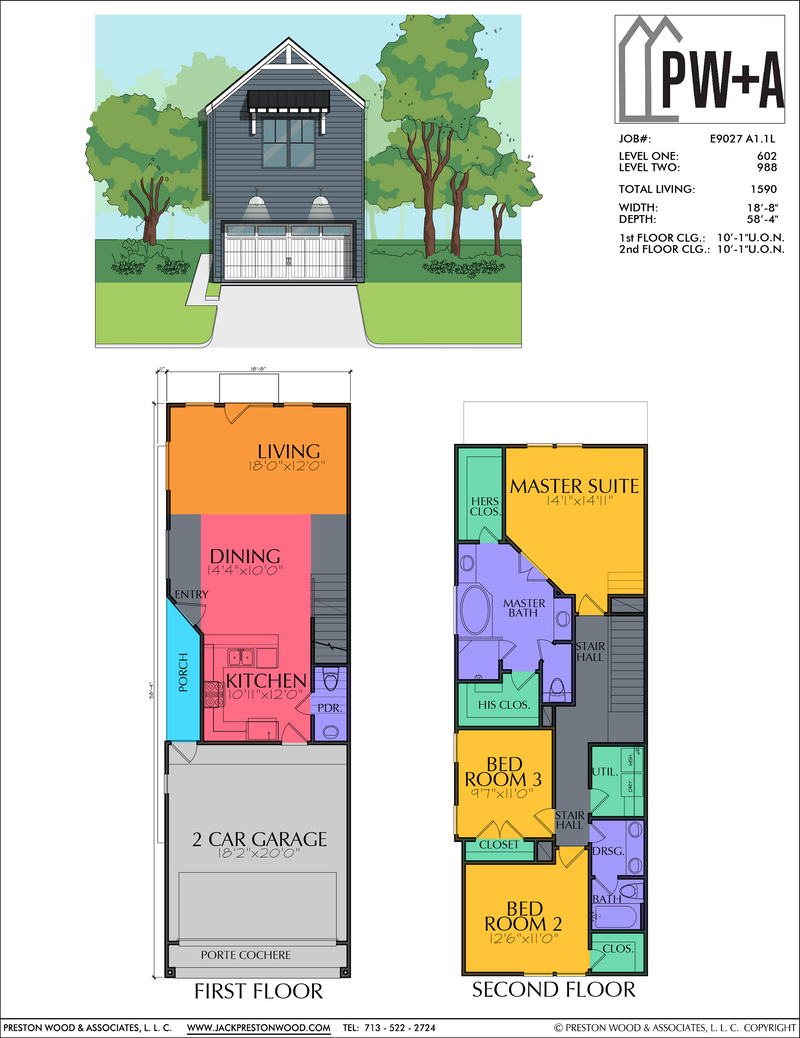 Two Story Home Plan E9027 A1.1 L