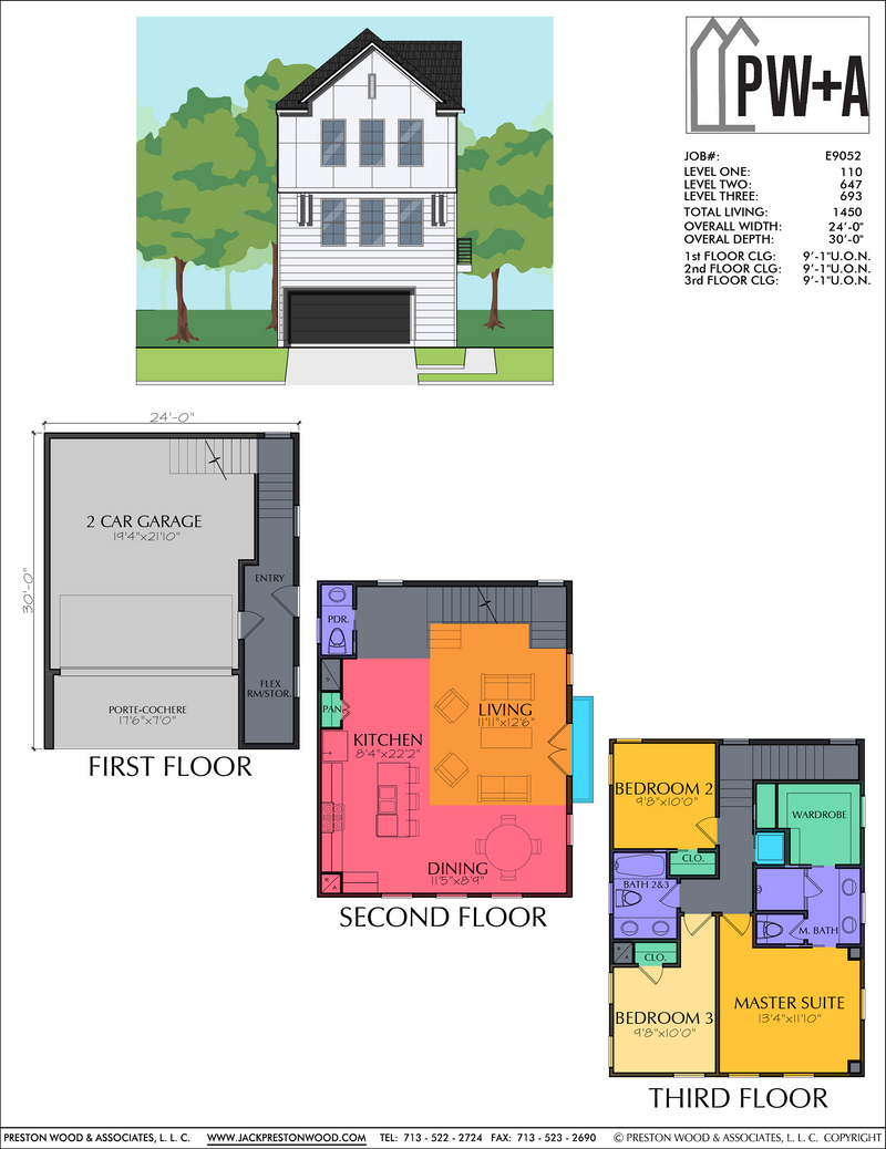 Three Story Home Plan E9052